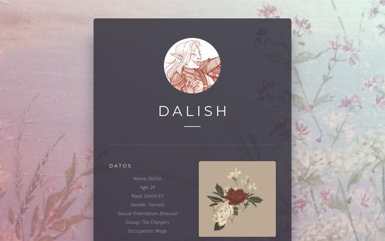 ◜ ❀ Dalish